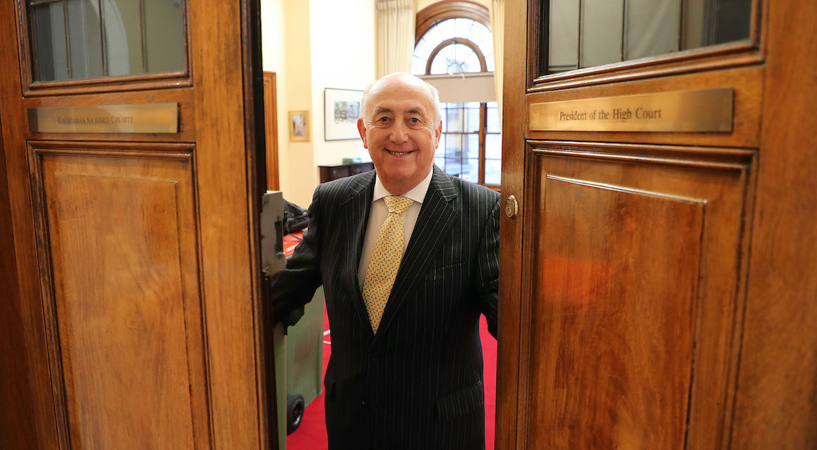 Mr Justice Peter Kelly retires as the President of the High Court after nearly 50 years of service with the Courts