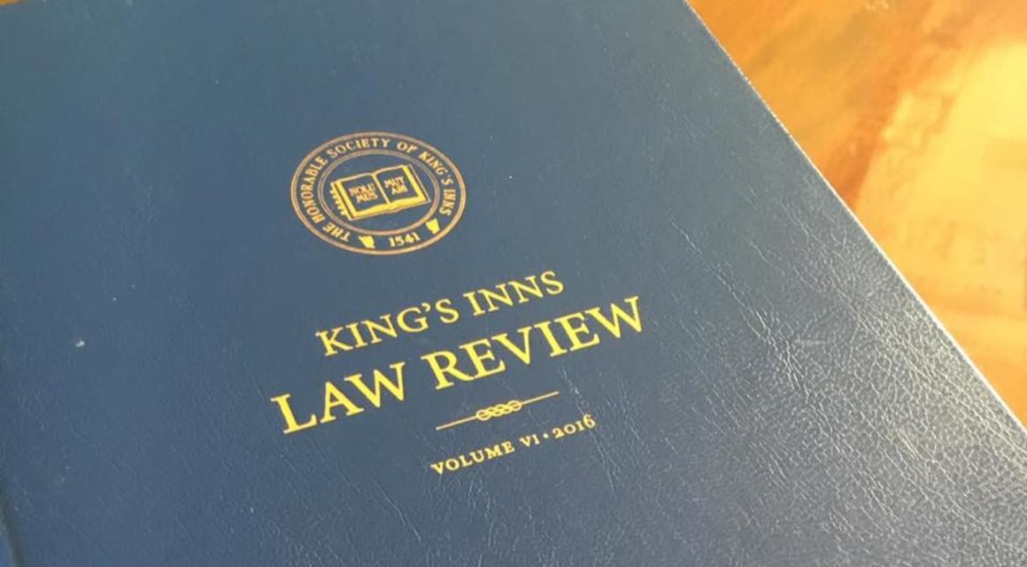 King's Inns Law Review Call for Submissions Volume VII